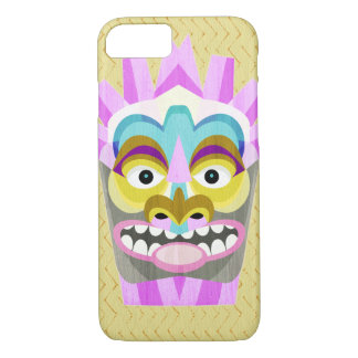 Capa iPhone 8/ 7 Aloha monstro engraçado da cabana de Tiki