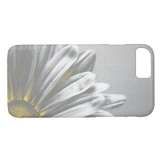 Capa iPhone 8/ 7 Amarelo e destaques florais cinzentos
