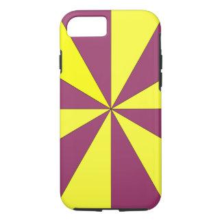 Capa iPhone 8/ 7 amarelo e roxo