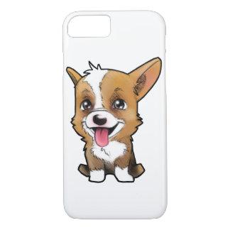 """Capa iPhone 8/ 7 """"Amendoim o corgi"""" para todos os amantes do corgi"""