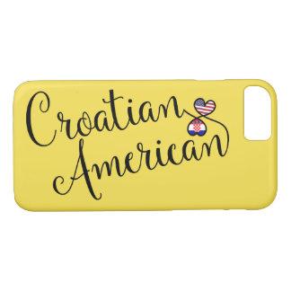 Capa iPhone 8/ 7 Americano croata caso entrelaçado do telemóvel dos
