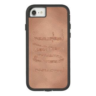 Capa iPhone 8/ 7 Amor cor-de-rosa do encanto do ouro