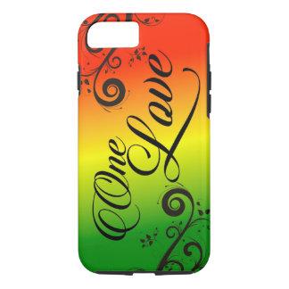 Capa iPhone 8/ 7 amor da reggae uma de Rasta do caso do iPhone 7