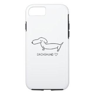 Capa iPhone 8/ 7 Amor do Dachshund