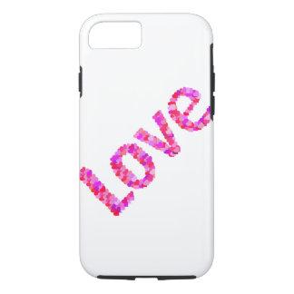 Capa iPhone 8/ 7 Amor nos corações vívidos & no rosa brilhante de