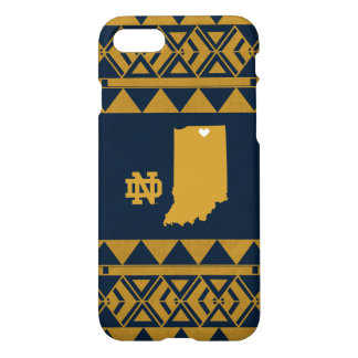 Capa iPhone 8/7 Amor tribal do estado de Notre Dame |
