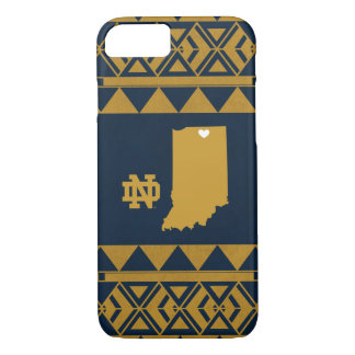 Capa iPhone 8/ 7 Amor tribal do estado de Notre Dame |