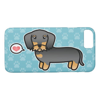 Capa iPhone 8/ 7 Amor Wirehaired do Dachshund do javali
