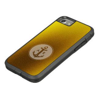 Capa iPhone 8/ 7 Âncora dourada | náutico