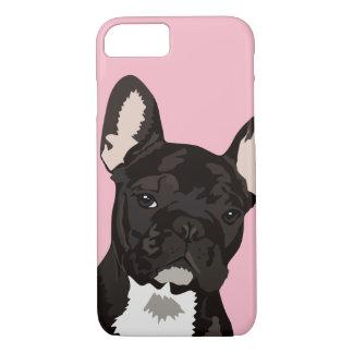 Capa iPhone 8/ 7 Animal de estimação rajado preto bonito do