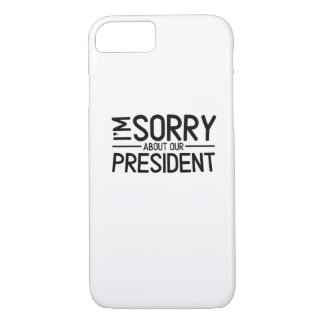 Capa iPhone 8/ 7 Anti-Trunfo eu sou pesaroso sobre nosso presidente