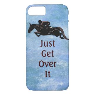 Capa iPhone 8/ 7 Apenas obtenha sobre ele o salto do cavalo