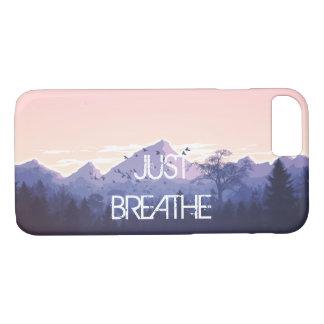 Capa iPhone 8/ 7 Apenas respire o design da montanha
