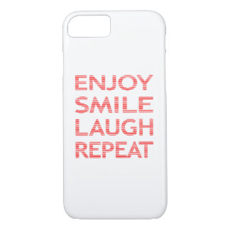 Capa iPhone 8/ 7 Aprecie a repetição do riso do sorriso - vermelho