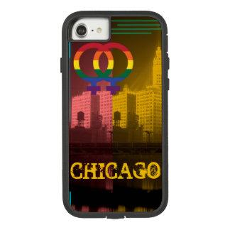 Capa iPhone 8/ 7 Arco-íris lésbica alegre Wrigley Bldg do interesse