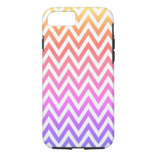 Capa iPhone 8/ 7 Arco-íris Pastel Chevron