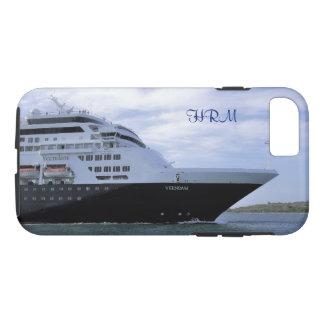 Capa iPhone 8/ 7 Arco lustroso do navio de cruzeiros Monogrammed