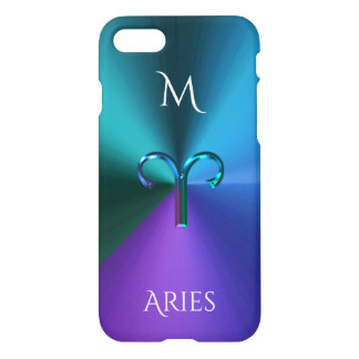 Capa iPhone 8/7 Aries metálico Hued legal do sinal do zodíaco