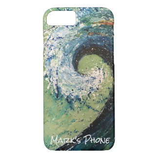 Capa iPhone 8/ 7 Arte abstracta litoral da onda da praia