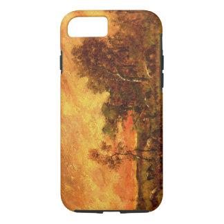 Capa iPhone 8/ 7 Arte arborizada do vintage da paisagem de Theodore