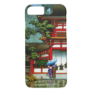 Capa iPhone 8/ 7 Arte clássica japonesa oriental legal da chuva do