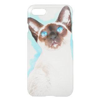 Capa iPhone 8/7 Arte da aguarela do gato Siamese