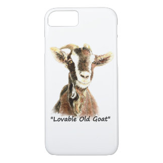 """Capa iPhone 8/ 7 """"Arte do animal de fazenda da cabra velha"""