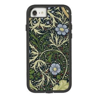 Capa iPhone 8/ 7 Arte floral do vintage do teste padrão da alga de