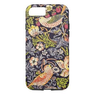 Capa iPhone 8/ 7 Arte floral Nouveau do ladrão da morango de