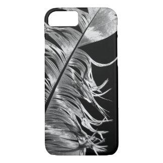 Capa iPhone 8/ 7 Arte fotográfica preta & branca da pena