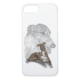 Capa iPhone 8/ 7 Arte rajado do cão do galgo