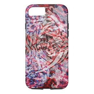 Capa iPhone 8/ 7 Arte, vermelho & branco tribais abstratos de