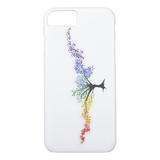 Capa iPhone 8/ 7 Árvore de borboletas coloridas