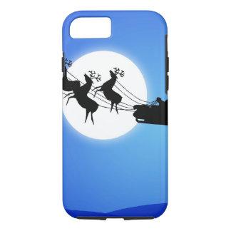Capa iPhone 8/ 7 Árvore de Natal tropical de Papai Noel
