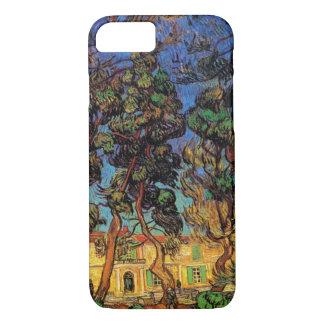 Capa iPhone 8/ 7 Árvores de Van Gogh no jardim, hospital de Saint