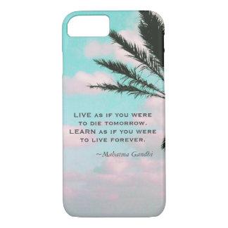 Capa iPhone 8/ 7 As citações de Gandhi aprendem como se você era…