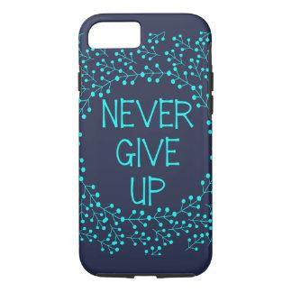 Capa iPhone 8/ 7 As citações inspiradas nunca dão acima o azul da