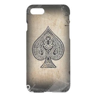Capa iPhone 8/7 Ás de espada artístico retro do póquer do Grunge