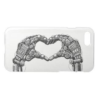 Capa iPhone 8/7 As mãos do robô fazem a forma do coração