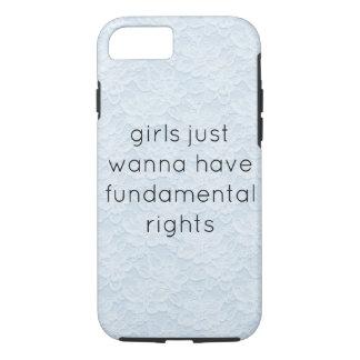 Capa iPhone 8/ 7 as meninas apenas querem ter o telefone cas dos
