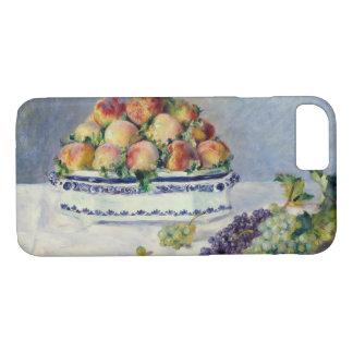 Capa iPhone 8/ 7 Auguste Renoir - ainda vida com pêssegos e uvas