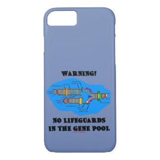 Capa iPhone 8/ 7 Aviso! Nenhuns Lifeguards no humor do ADN da
