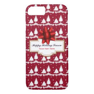 Capa iPhone 8/ 7 Azevinho e neve vermelhos dos pinheiros