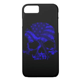 Capa iPhone 8/ 7 Azul americano do crânio