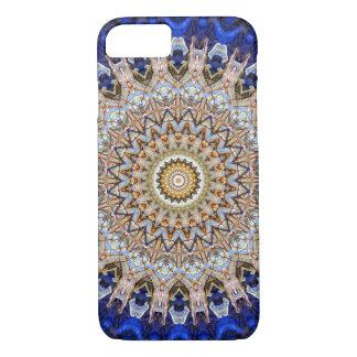 Capa iPhone 8/ 7 Azul brilhante e arte da mandala de Brown