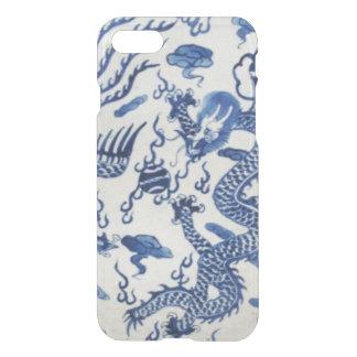 Capa iPhone 8/7 Azul chinês de monaco do chinoiserie do dragão do