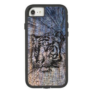 Capa iPhone 8/ 7 Azul de madeira do tigre