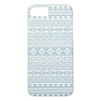 Capa iPhone 8/ 7 Azul estilizado asteca & branco do ovo do pato do