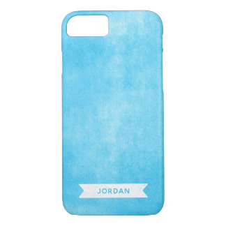 Capa iPhone 8/ 7 Azul na moda tinta rolada