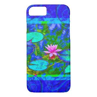 Capa iPhone 8/ 7 Azul Yogini da flor de Waterlily Lotus